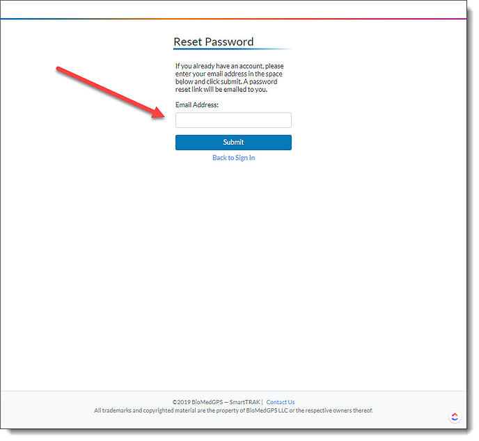 forgotpassword button
